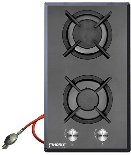 ph nix domino gaskochfeld einbau kochfeld glas gaskocher 2. Black Bedroom Furniture Sets. Home Design Ideas
