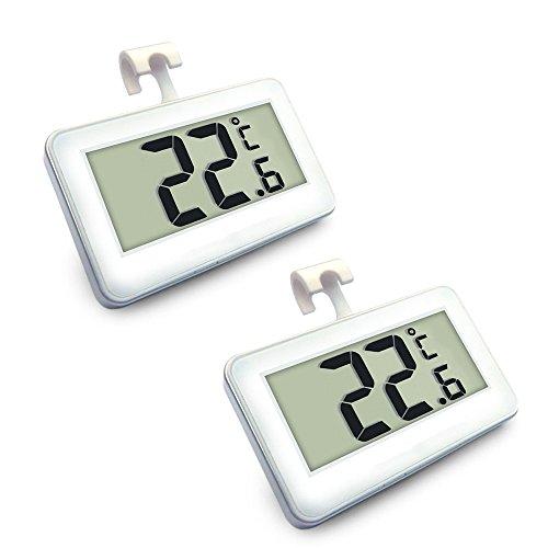expower 2er st ck digital k hlschrank thermometer wasserdicht gefrierschrank thermometer mit. Black Bedroom Furniture Sets. Home Design Ideas