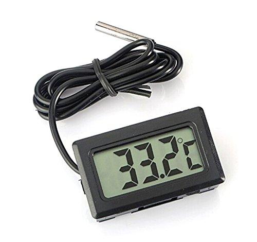 demarkt digital lcd thermometer temperatur tester f r fisch aquarium k hlschrank in schwarz sredne. Black Bedroom Furniture Sets. Home Design Ideas