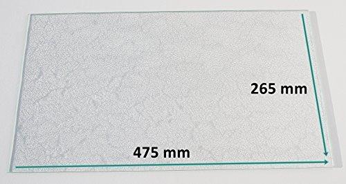 k hlschrank einlegeboden glasplatte gem sefach strukturglas 4 mm dick 475 mm x 265 mm. Black Bedroom Furniture Sets. Home Design Ideas