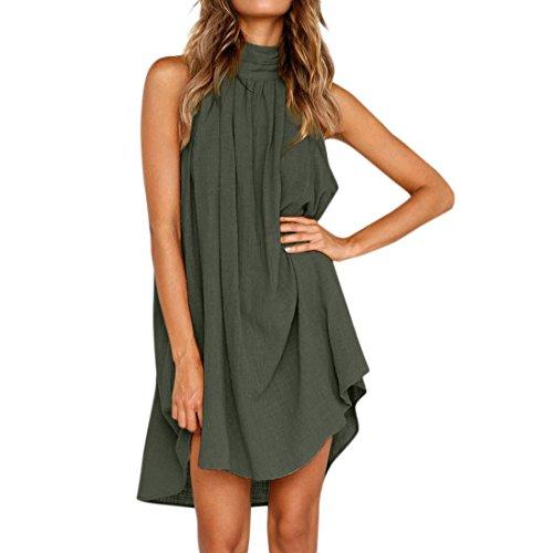 Trada Sommerkleid, Damen Elegant Urlaub Unregelmäßige Kleid Damen Sommer  Strand ärmelloses Party Kleid Minikleid Kurz Hemdkleid Blusekleid Drucken  Kleider ... a4d991ea32
