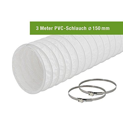easytec abluftschlauch 150 mm 152 mm l nge 3 meter pvc. Black Bedroom Furniture Sets. Home Design Ideas